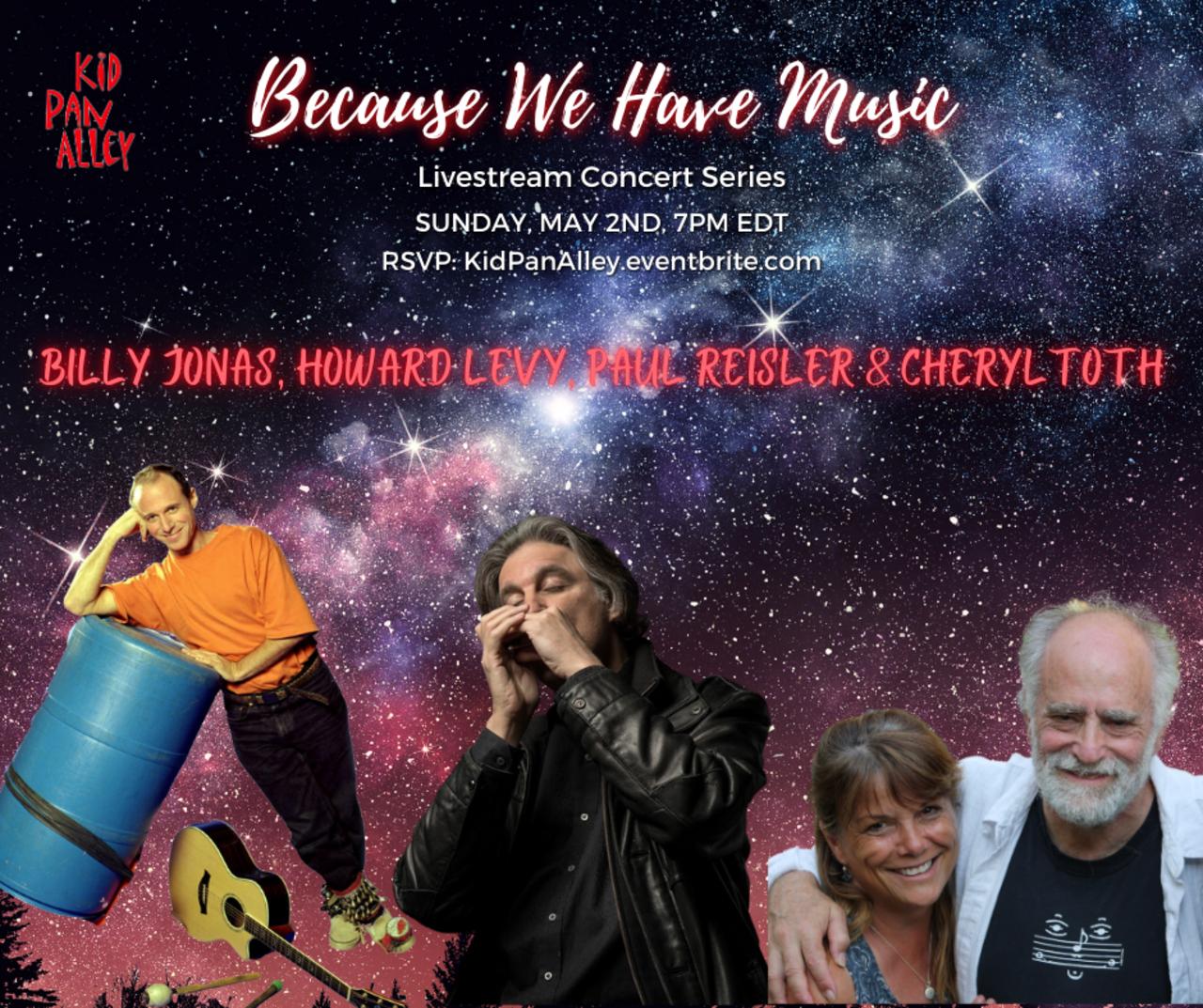 Family Concert  A fun FAMILY Concert w Billy Jonas Howard Levy Paul Reisler amp Cheryl Toth