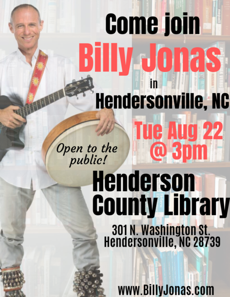 Billy Jonas Show at Henderson County Library