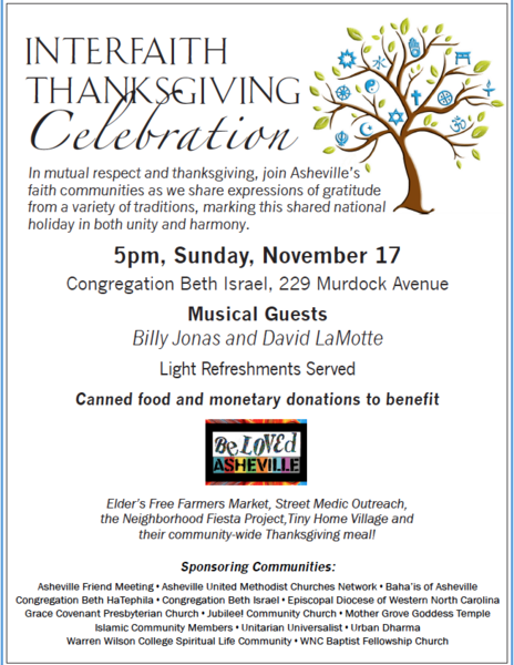 Interfaith Thanksgiving Celebration with Billy Jonas amp David LaMotte