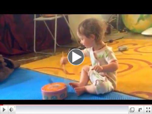 MayJune 2016 Laila Drumming--Like father like daughter